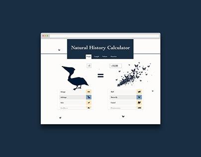 Daily UI #04 - Calculator WebApp Concept