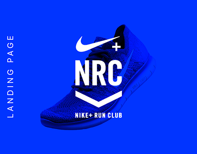 Concept of Nike Running Club website. Landing page