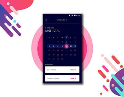 Calendar App Concept-Free Download