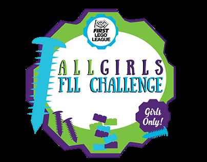 First Lego League All Girls Robotics Event Logo