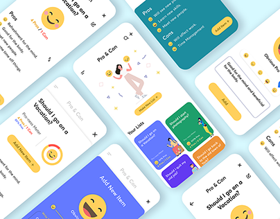 Design of Pro & Con List App (with Smiley Faces!)