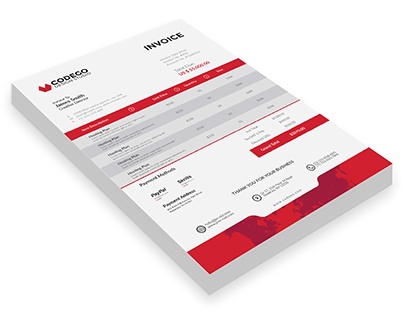 Professional Invoice Template | Freebie PSD Download