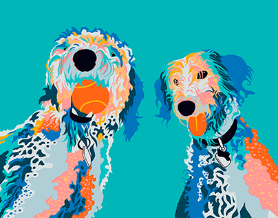 Two Dogs illustration