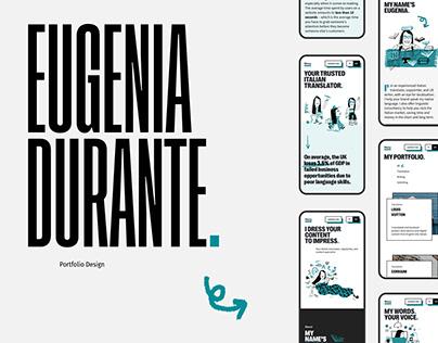 Eugenia Durante Portfolio - UI/UX, Website
