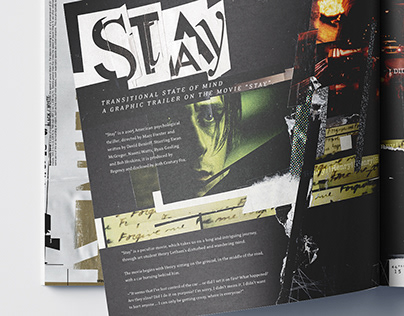 46pgs. graphic trailer on the movie Stay