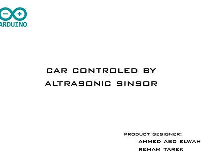 Car Controlled by Ultrasonic Sensor