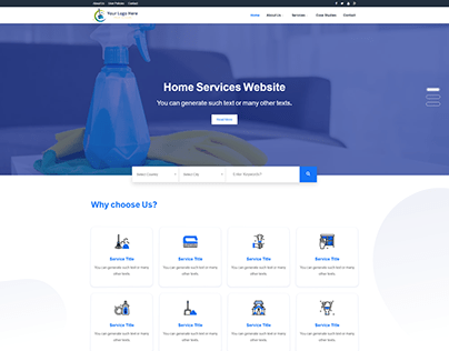Services Website Template