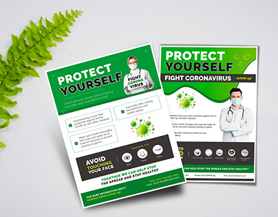 Protect Yourself (Covid-19) Flyer or Poster Template