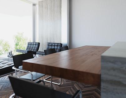 FNCTN kitchen/living room design