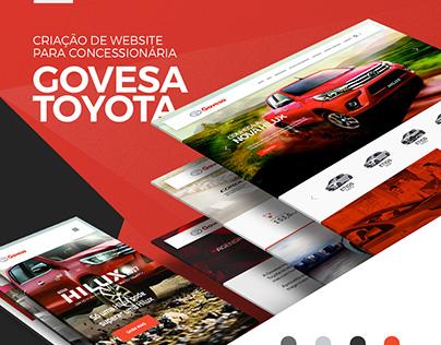 Criação de website para Govesa Toyota
