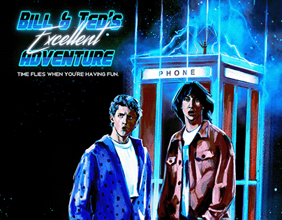 Bill and Ted Alternative Movie Poster