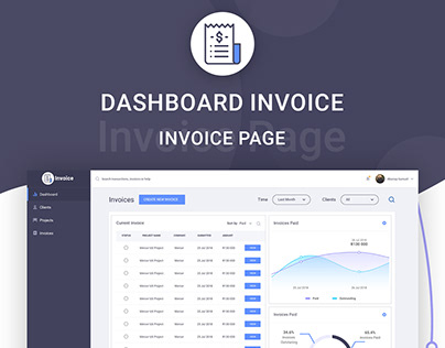 Dashboard Invoice UI UX Design