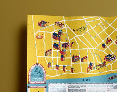 Toruń Old Town - map