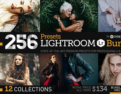 256 New Lightroom Presets Bundle by Presetrain Co.