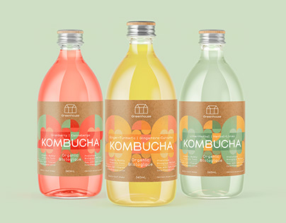 Greenhouse Juice Kombucha Label Design