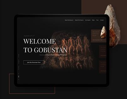 Landing page design (Gobustan Preserve-Museum). concept