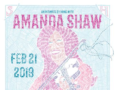 Amanda Shaw Gig Poster 2019