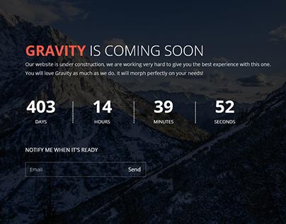 Gravity Responsive Coming Soon WordPress Plugin