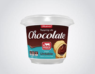 Etichetta Topping al Cioccolato PAISA