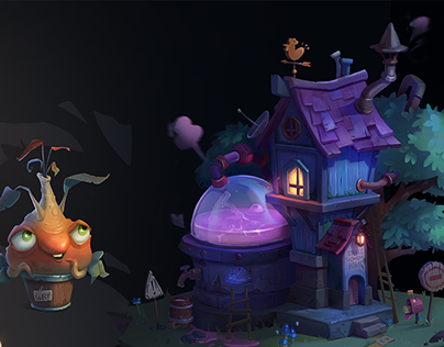 The House and Props. 2d concept