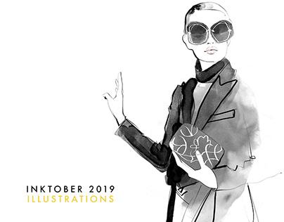 Fashion Illustrations from inktober 2019 - week 2
