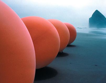 """Five Orange Spheres"""