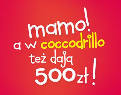 Coccodrillo rozdaje 500 zł - kampania 360°