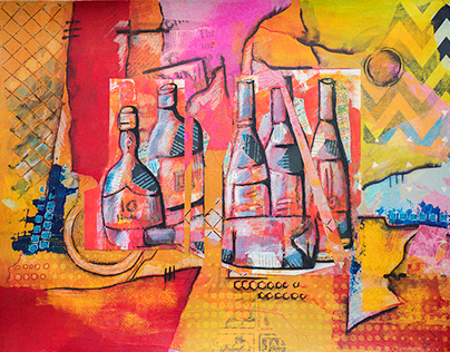 Food and Drink , collage, illustration