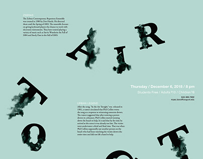 Typographic Music Poster: In The Air Tonight