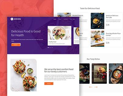 Zircon Restaurant Landing Page