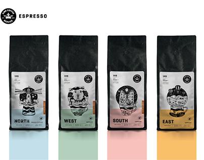 coffee travels I espresso packaging line