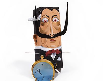 Paper Craft Toy Design - Salvador Dali.