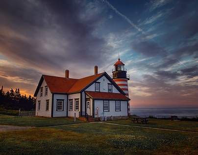 Sunset over West Quoddy