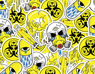 Illustration | stickers pack for BADnSAD virus collect