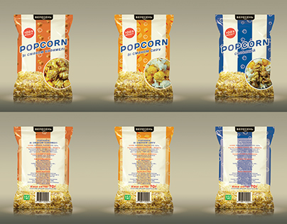 Popcorn packaging design
