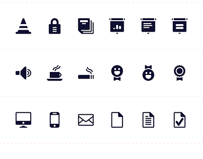 Grid Sixteen Icons