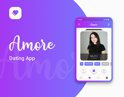 Amore | Mobile Dating App | UI/UX Concept