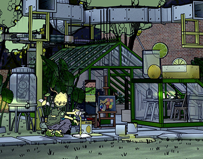 Animated Lemon Campsite X Mech