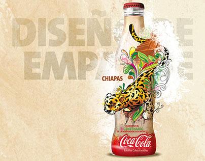 Design and illustration for Coca-Cola contour bottle