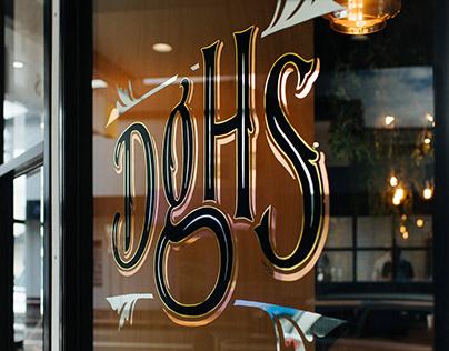 Doughheads Brand Identity Design + Gold Leaf Gilding