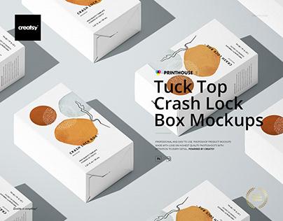 Tuck Top Crash Lock Box Mockup Set