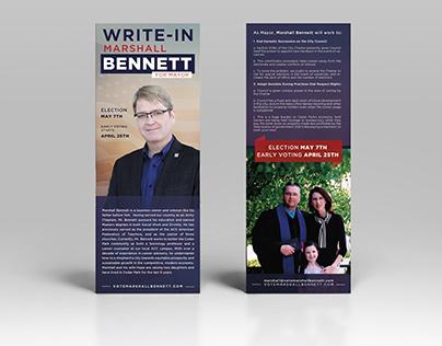 Marshall Bennett for Mayor Palm Card Design