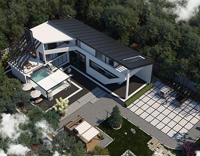 Villa q-1000sqm-Loc.:Iran-Architect:Mohamad Amani
