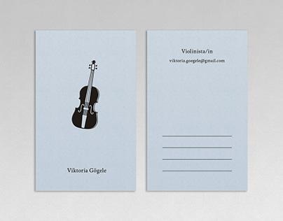 violinist business card