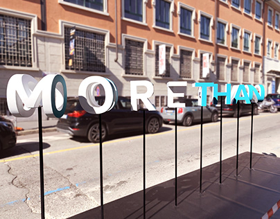 """More than one thing"" letters installation 