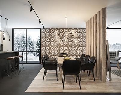 Interior design of cottage| Lviv | WhiteLineDesign