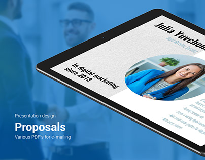 Presentation design. Business proposals