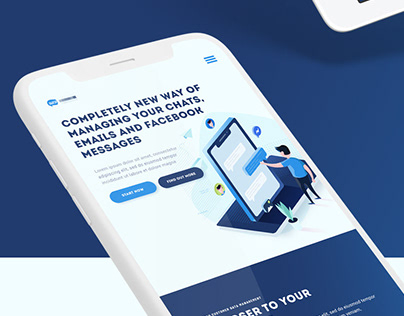 Chat app landing page concept