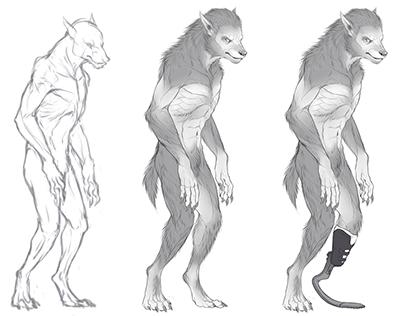 Concept Art - Werewolf Studies
