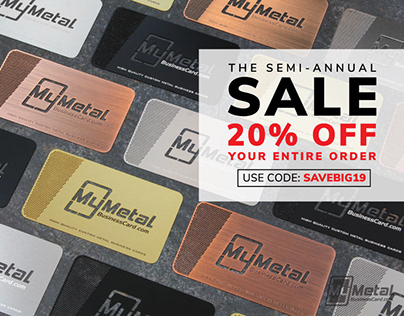 Semi Annual SALE - 20% OFF Metal Business Cards